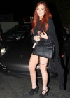 Lindsay Lohan Shows Legs in Santa Monica-04