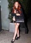 Lindsay Lohan Shows Legs in Santa Monica-07