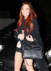 Lindsay Lohan Shows Legs in Santa Monica-08