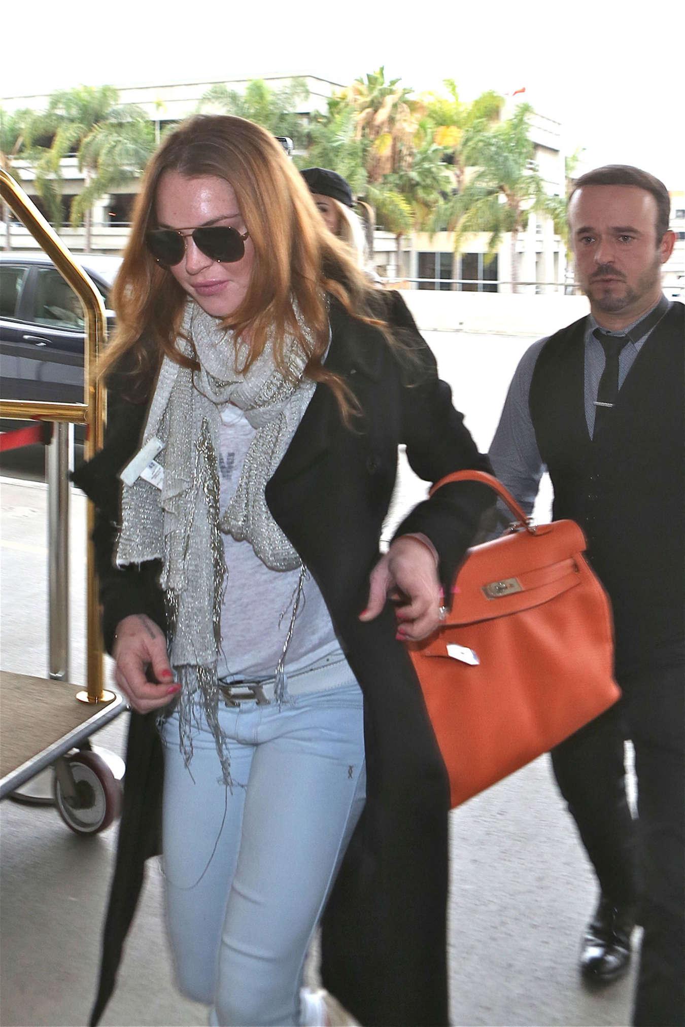 Lindsay Lohan at JFK Airport In New York