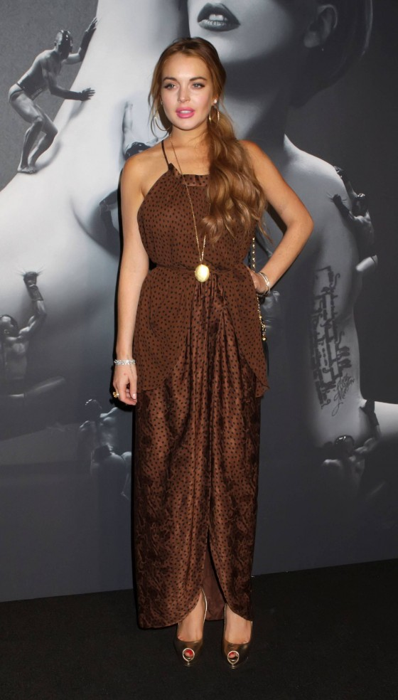 Lindsay Lohan attend Lady GaGa Launches Fame Fragrance