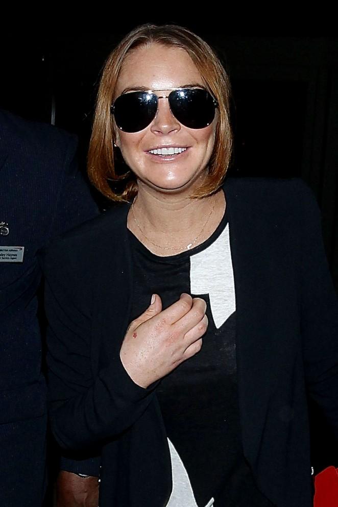 Lindsay Lohan at LAX Airport in LA