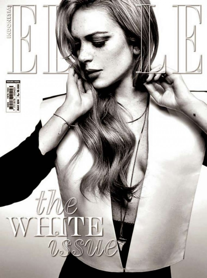 Lindsay Lohan: Elle Indonesia Cover -01