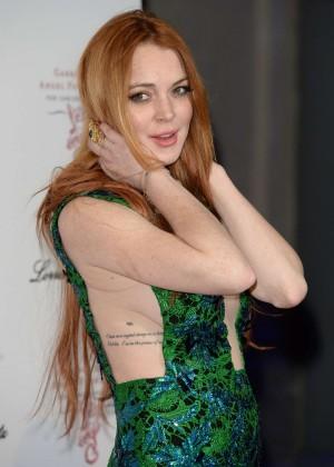Lindsay Lohan - Gabrielle's Gala in London - GotCeleb  Lindsay Lohan