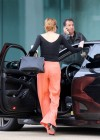 Lindsay Lohan Getting Into Her Porsche-14