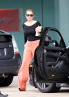 Lindsay Lohan Getting Into Her Porsche-18
