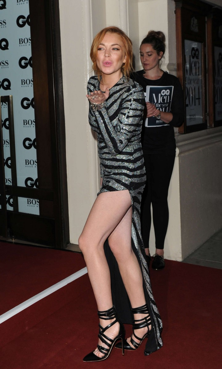 Lindsay Lohan - 2014 GQ Men of the Year Awards in London