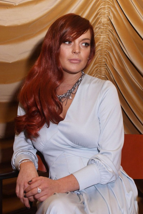 Lindsay Lohan - Liz & Dick Press Conference in LA