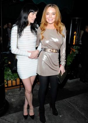 Lindsay Lohan - LOVE Magazine/Balmain Christmas Party in London