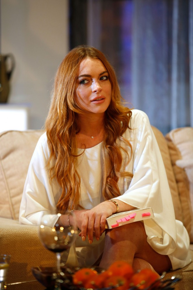 """Lindsay Lohan - """"Speed The Plow"""" Photocall at Playhouse Theatre in London"""