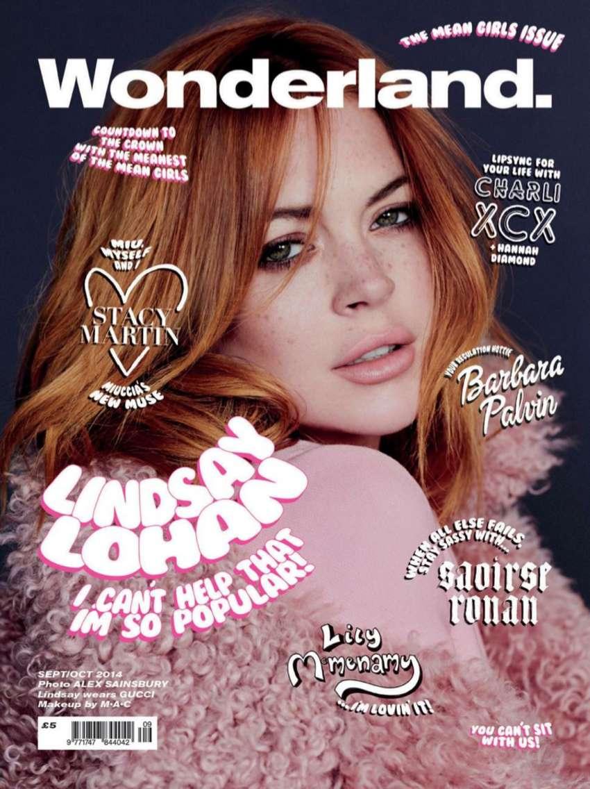 Lindsay Lohan - Wonderland Cover Magazine (Sept/Oct 2014)