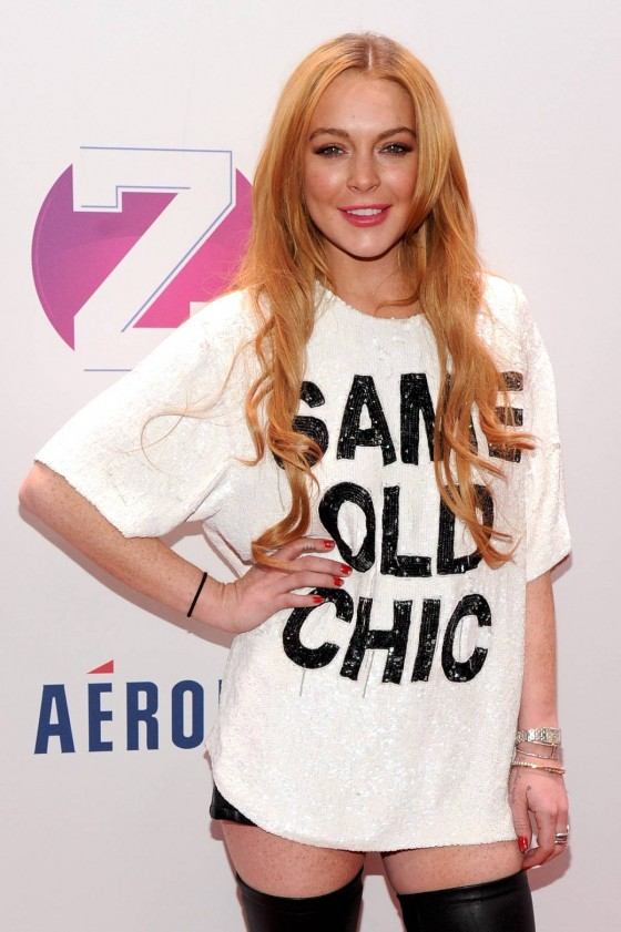 Lindsay Lohan: Z100s Jingle Ball 2013 -17