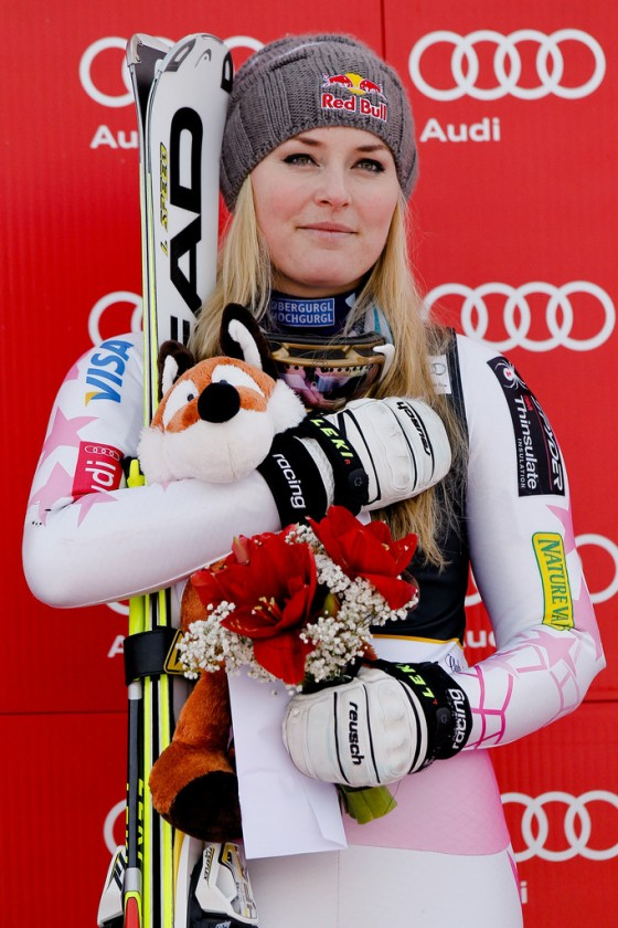 Lindsey Vonn at World Cup giant slalom 2013