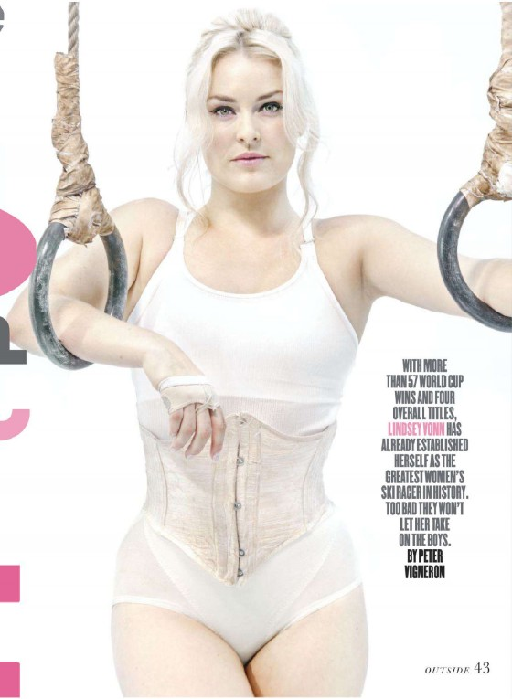 Lindsey Vonn - Outside Magazine 2013