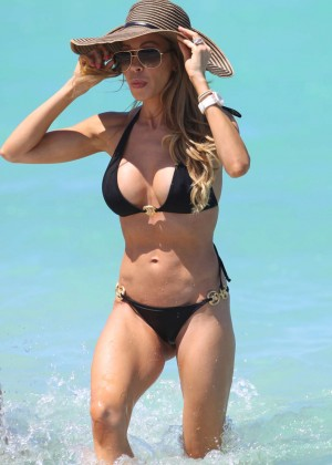 Lisa Hochstein in a Black Bikini -03