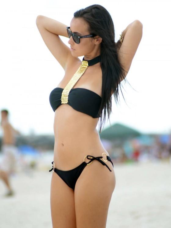 Lisa Opie in a Bikini on South Beach