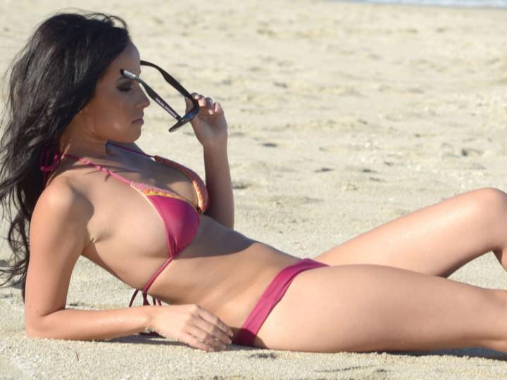 Lisa Opie – Wearing Bikini in Miami