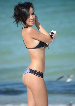 Lisa Opie in Bikini on Miami Beach