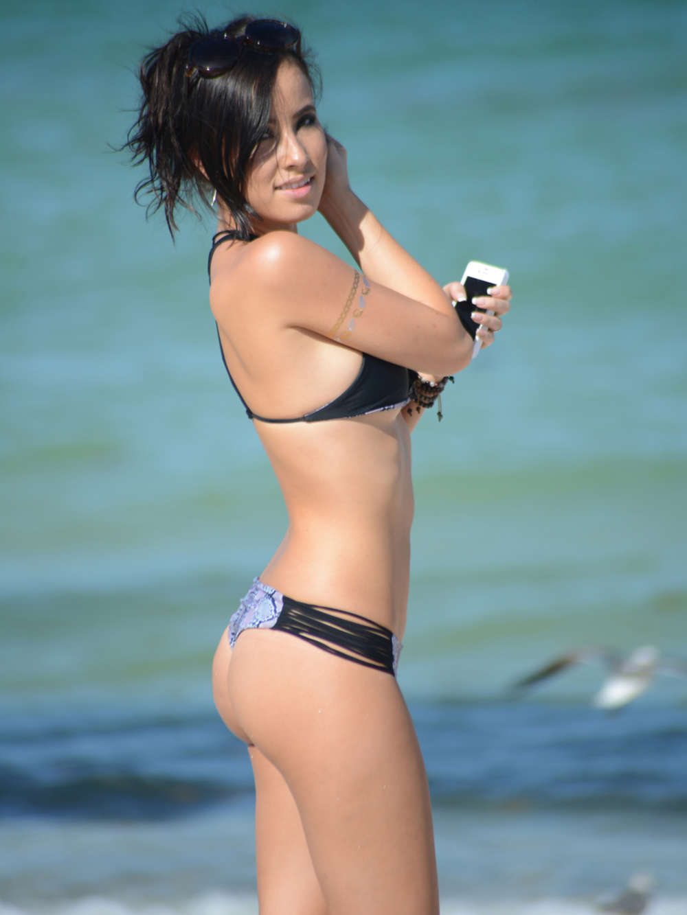 Lisa Opie Wearing Bikini On Miami Beach Gotceleb