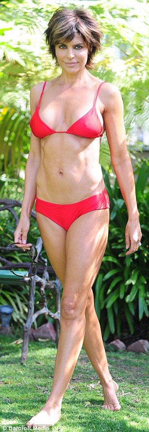 Lisa Rinna - In a red bikini-05