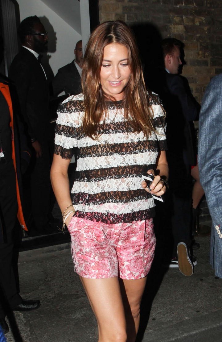 Lisa Snowdon in Shorts at The Chiltern Firehouse in London