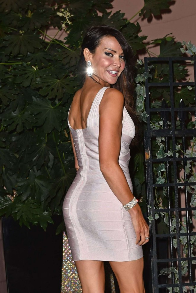 Lizzie Cundy at Kensington Christmas Party in London