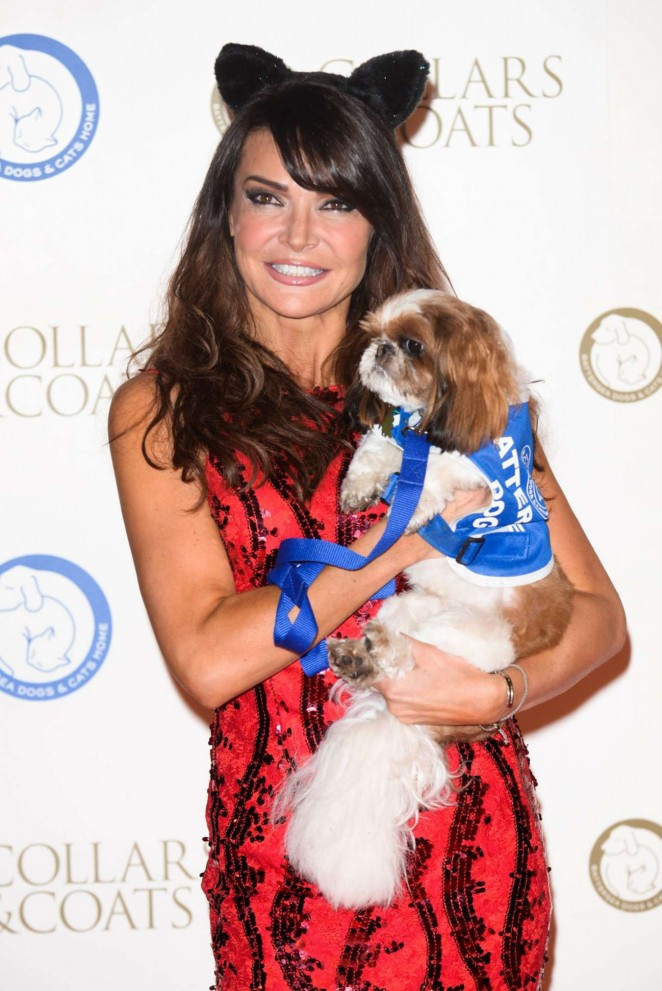 Lizzie Cundy - Battersea Dog's Collars & Coats Gala Ball in London