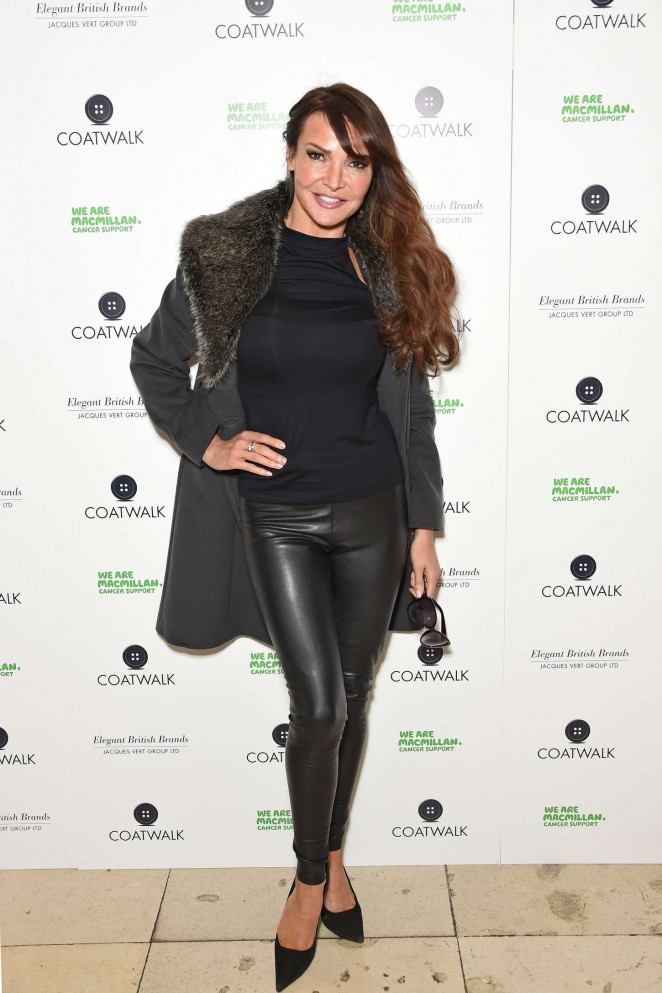 Lizzie Cundy - CoatWalk in aid of Macmillan Cancer Support in London