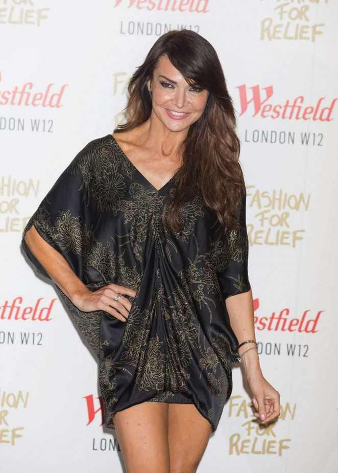 Lizzie Cundy - Fashion For Relief Pop Up Launch Party in London