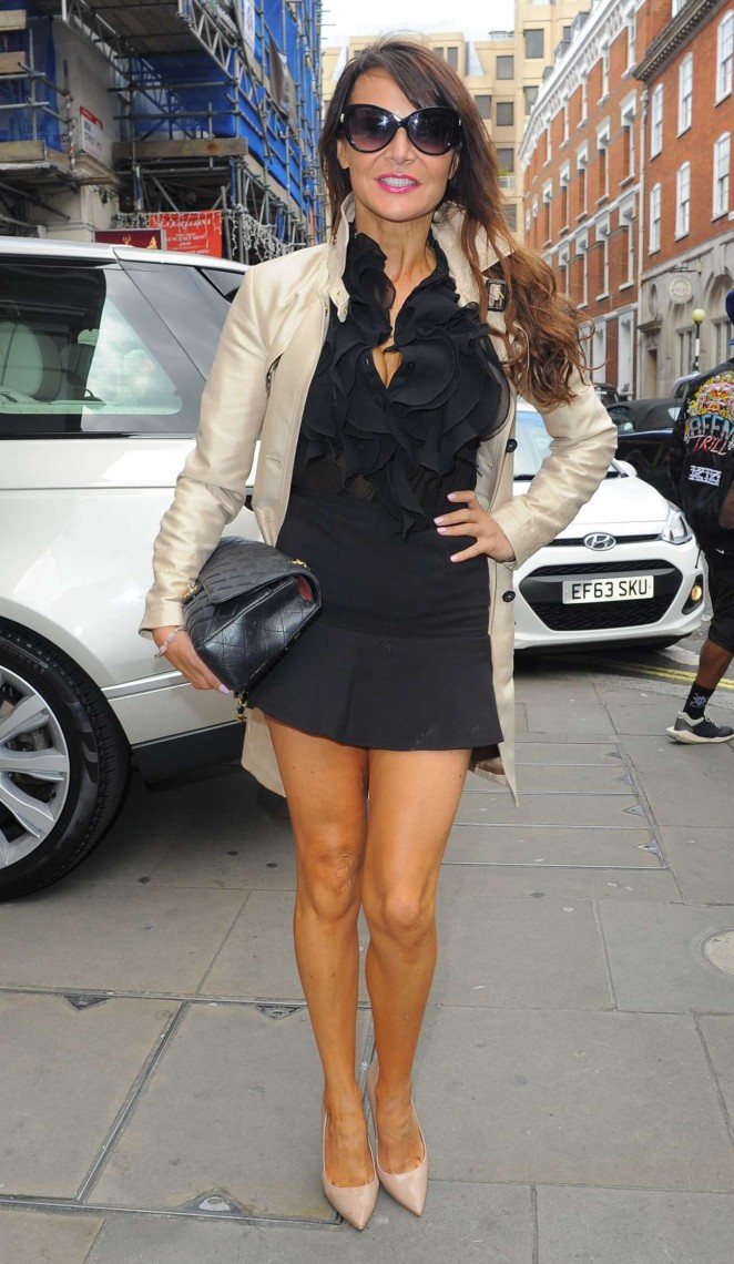 Lizzie Cundy - Julien Macdonald Show SS 2015 London Fashion Week