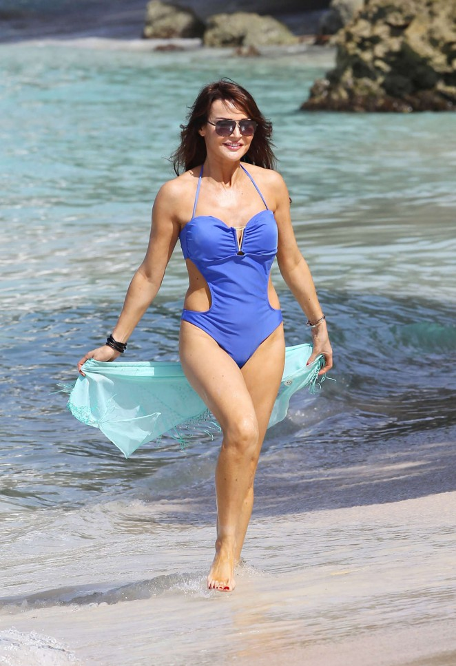 Lizzie Cundy 2014 : Lizzie Cundy in Blue Swimsuit -10