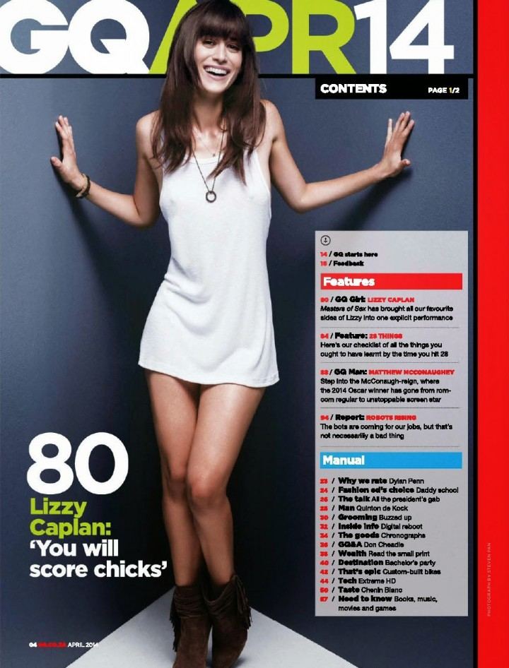 Lizzy Caplan: GQ South Africa 2014 -04