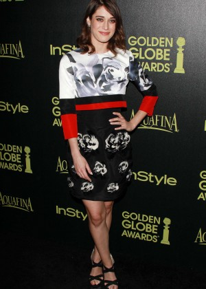 Lizzy Caplan - HFPA & InStyle Celebrate 2015 Golden Globe Award Season in West Hollywood