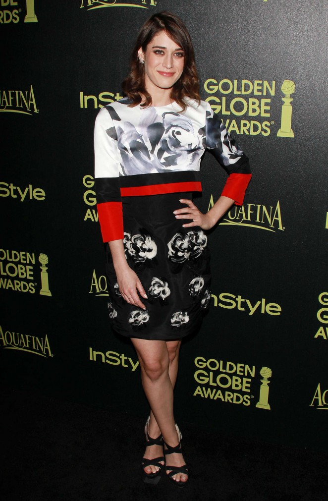 Lizzy Caplan – HFPA & InStyle Celebrate 2015 Golden Globe Award Season in West Hollywood