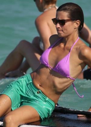 Logan Fazio in a Pink Bikini Top -02