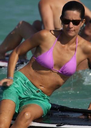 Logan Fazio in a Pink Bikini Top -04