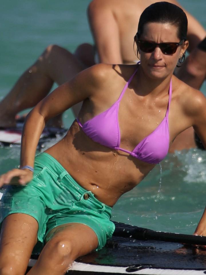 Logan Fazio in a Pink Bikini Top in Miami