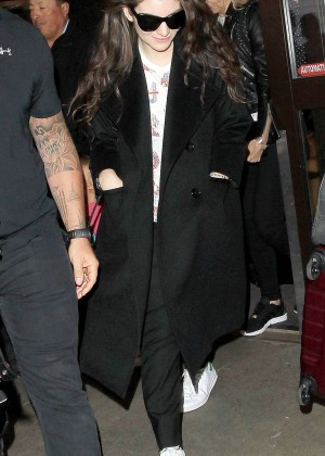 Lorde Arrive at LAX Airport in Los Angeles