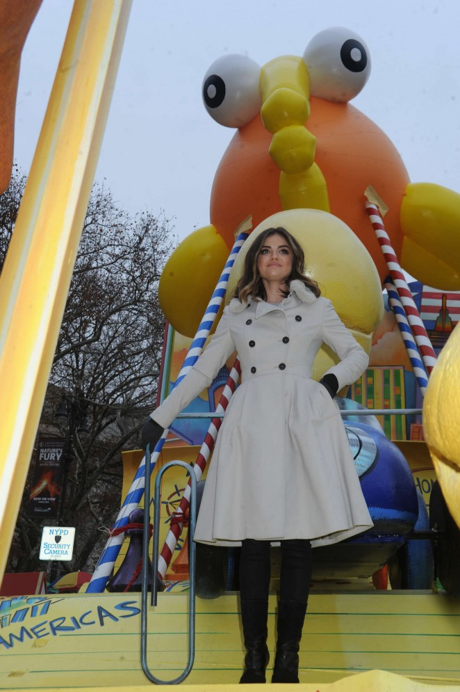 Lucy Hale: 2014 Macys Thanksgiving Day Parade -01
