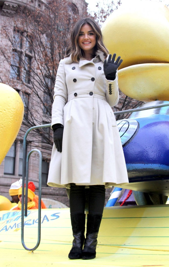 Lucy Hale: 2014 Macys Thanksgiving Day Parade -11