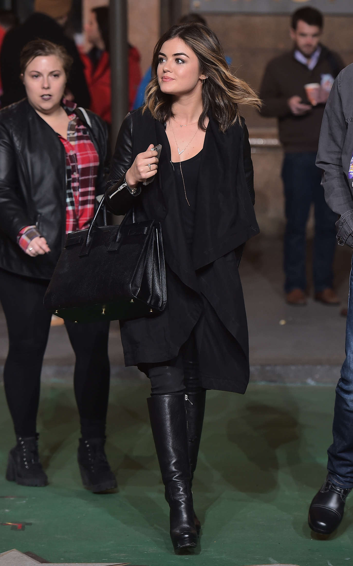 Lucy Hale - 88th Annual Macy's Thanksgiving Day Parade Rehearsals in NYC