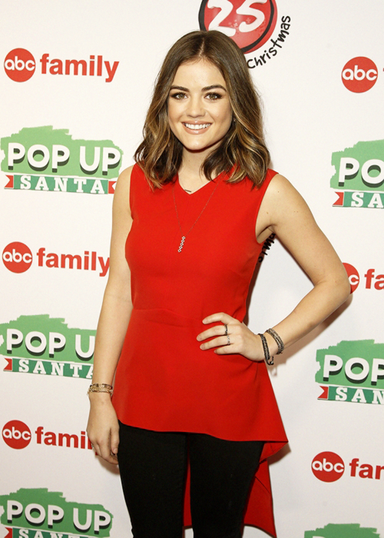 lucy hale abc familys 25 days of christmas winter wonderland event in new york - Abc 25 Days Of Christmas Schedule 2014