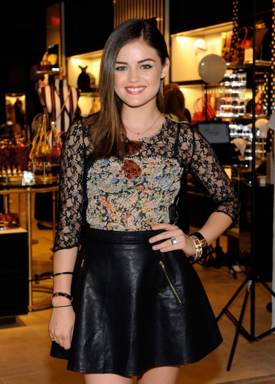 Lucy Hale leggy in mini dress-09