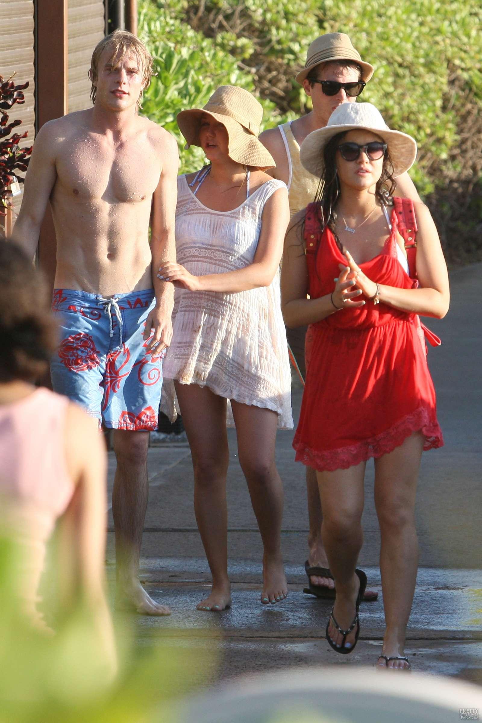 Lucy Hale 2013 : Lucy Hale in bikini in Hawaii -10