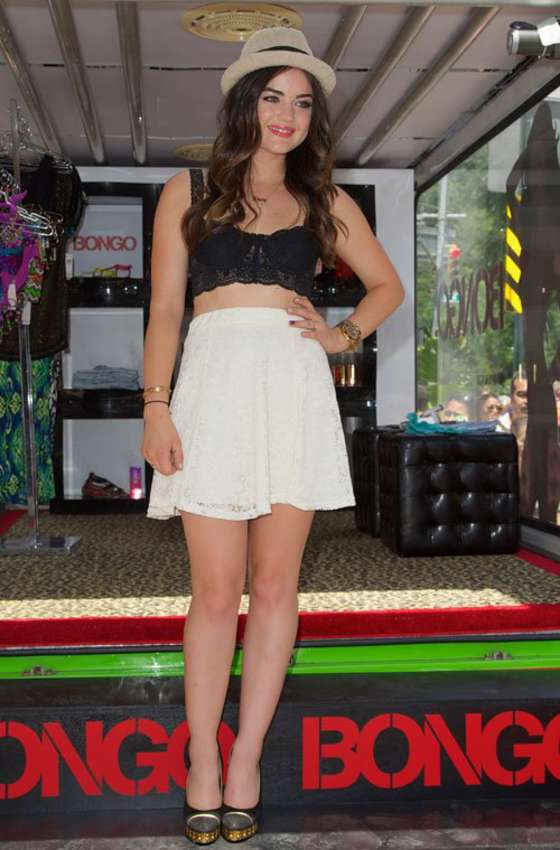 Lucy Hale at Bongo Boutique in NYC -07