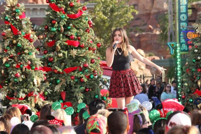 Lucy Hale – Disney Frozen Christmas Celebration in Lake Buena Vista