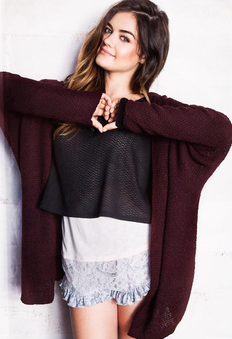 Lucy Hale - Hollister Clothing Photoshoot 2014