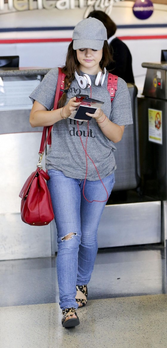 Lucy Hale in jeans at LAX Airport -14 - GotCeleb