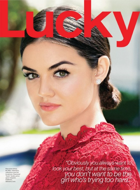 Lucy Hale - Lucky Magazine - August 2013 -01