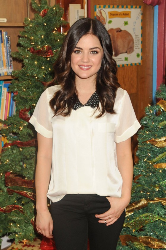 "Lucy Hale -  ""Power Holiday Smiles"" Duracell Campaign in New York"